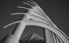 High As (Jarrad.) Tags: 70200mm architectural architecture bw bwbridge blackwhite d800e modern monochrome mountain newplymouth newzealand nikon northisland north snow