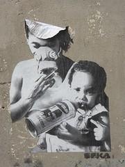 Graff in Paris - Seka (brigraff) Tags: streetart collage pastedpaper pasteup wheatpast paris seka brigraff