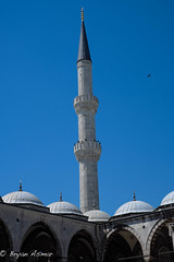 Turkey Istanbul (SultanAhmet Camii minarets) (bryanasmar) Tags: turkey istanbul mosque blue minarets sultan ahmet camii fuji xt20 xf3514