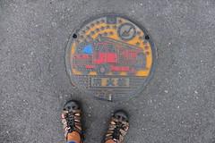 Kuroiso fire manhole (Stop carbon pollution) Tags: japan 日本 honshuu 本州 touhoku 東北 fukushimaken 福島県 kuroiso 黒磯
