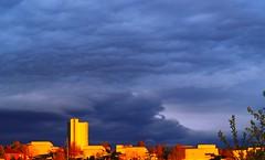 Clouds (g.rokke) Tags: sunset zonsondergang solnedgang clouds wolken skyer blå blue blauw sky hemel himmel trondheim sørtrøndelag trøndelag risvollan norway noorwegen norge