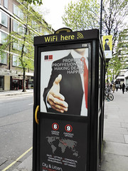 """Proffesionals"" (Douguerreotype) Tags: uk gb britain british england london city urban typo error mistake telephone box advert advertisement poster"