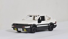 Toyota AE86 of Initial D (KMP MOCs) Tags: lego toyota initiald moc anime trueno ae86 minifig car vehicle toy toys racing gt coupe corolla cars downhill drift projectd takumi fujiwara sportscar sprinter