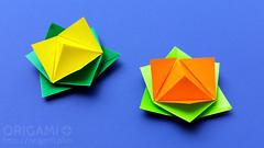 New Origami Lotus Flower Model (origami.plus) Tags: origami lotus flower tutorial easy