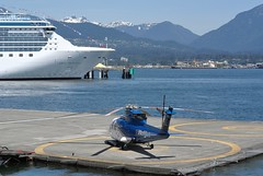 Vancouver Harbour Heliport (wfung99_2000) Tags: cfzaa s92a helijet cbc7 vancouver harbour heliport sikorsky helicopter coralprincess cruiseship canadaplace thelions