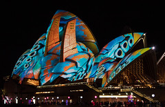 Global delight [Explored] (OzzRod) Tags: pentax k1 smcpentaxda55300mmf458 vivid light festival night lights colour operahouse sydney