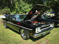 Made in the USA Carshow - Lake Wheeler 2017 (osubuckialum) Tags: 2017 cars carshow show lakewheeler nc northcarolina raleigh madeintheusacarshow 1970 70 plymouth roadrunner mopar black muscle musclecar 440 v8