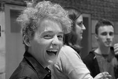 Martijn (just.Luc) Tags: belgium belgië belgien belgica belgique man male homme hombre uomo jong jeune young bw zw bn nb monochroom monochrome face visage gezicht portret ritratto retrato laughing lachen rire hilarious teeth dents tanden