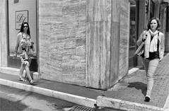 Untitled (Steve Lundqvist) Tags: people teramo italy italia italiano bw blackandwhite monochrome street fujifilm x100s streetphotography candid shot snap eyecontact women woman girls walking action crossroad