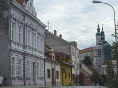 Street near St. Wenceslas Church, Mikulov, Czechia (Paul McClure DC) Tags: mikulov nikolsburg moravia morava czechia czechrepublic historic architecture aug2016 church jihomoravskýkraj břeclav