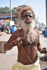 Sadhu (BEE303) Tags: culture religion india holy man sadu saddhu beard ganges river varanasi