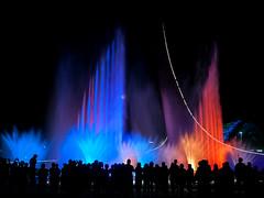 Color game (Igor Komissarov) Tags: fountain olympic sochi water colors light dark dusk nikon longexposure people silhouette street abigfave