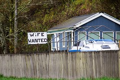 billboard (Mitchell Haindfield) Tags: marriage engagement relationships vulnerability intimacy barriers obstacles needed wanted alone together closeness distance rural socialmedia community husband wife advertising protection clallam washington olympicpeninsula smalltown locals separation divorce love affection companionship friendship farm sign personal eharmony matchcom