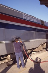 Filling Up Amtrak (craigsanders429) Tags: amtrak p42dc amtrakp42locomotives amtrakp42dc amtrakmotivepower sacramentocalifornia amtrakscoaststarlight