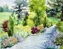 New York Botanical Garden (softfurn Susan) Tags: nybg newyorkbotanicalgarden bronx nyc pleinair painting watercolor nycurbansketchers