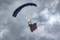 The Tigers Freefall Parachute Display Team (_John Hikins) Tags: tigers freefall parachute display team torbay torquay d5500 devon sigma airshow flag union jack 150600mm 150600c 150600 clouds beach sea seaside jump