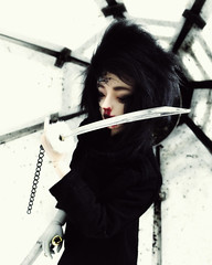 White (baimolong) Tags: bjd bjddoll wothdoll withdollnei blood gore sword doll