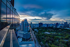 Sunset over BKK (21mapple) Tags: sunset bangkok thailand thai lumpini park