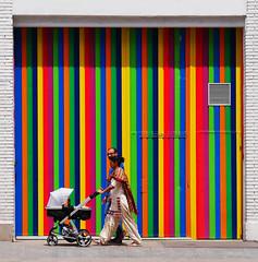 Paint shop (chrisk8800) Tags: paintshop colors colours stripes lines geometric texture patterns composition chrisk8800 barcelona couple childcart