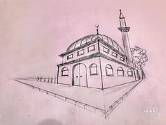 cami (orcin05) Tags: cami mosque karakalem drawingpencil