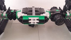 Jabba the Hutt's TIE Fighter - Rear (Evilkirk) Tags: starwars lego jabba hutt tie fighter moc