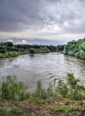 Rio Grande at S-curve near RM60 (JoelDeluxe) Tags: riogrande mrg bosque water sediment river habitat restoration sites levees spring2017 flood nm newmexico joeldeluxe attributionusfws
