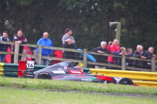 Karl Massaad in British F4 during the BTCC weekend at Croft, June 2017