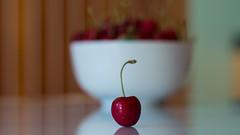 Week 24 - Representing (aka fruit) (shokisan) Tags: project52 fruit bowl cherry cherries kitchen table reflection