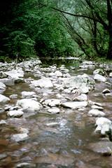 Pazin, de Fojbarivier, Istrië Kroatië 1986 (wally nelemans) Tags: pazin fojba rivier river istrië istria kroatië croatia hrvatska 1986