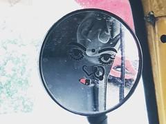 Mrs Dorian Gray (Mayank Austen Soofi) Tags: delhi walla mirror oscar wilde auto rickshaw portrait woman mrs dorian gray