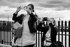 Day 176. Snap snap. (Rob Emes) Tags: g7xii canon camera photographer photography pair people urban street city london bw white black mono 3652017 365 jun2017