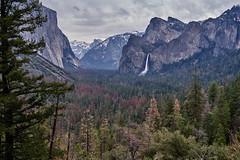Yosemite Valley (AgarwalArun) Tags: landscape scenic nature views mountains cliffs yosemite yosemitenationalpark nationalpark granitecliffs sierranevada californiapark halfdome snowpeaks snow snowcovered sony7m2 sonyilce7m2 waterfall