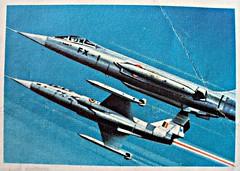 F-104 Starfighter (Sallanches 1964) Tags: rocketman picturealbum chocolatejacques 1960s starfighter racetothestars