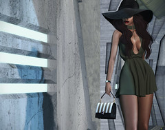 1.23 (Carley Benazzi) Tags: ison besom model mesh makeup fiore treschic mowie bag handbag accessories weekendruiner couture collabor88 urbancouture urban chic hat hair ethnic ebony zoom watch shadows events fameshed
