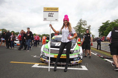 Jake Hill on the grid before the first BTCC race at Oulton Park, May 2017