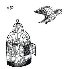 30 Inktober 2016 (alias_alice) Tags: inktober inktober2016 drawing birdcage cage bird flight flown freedom