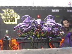 Debs - Name - Toms - Raphe - Caligr : The Paranoid Nation (1/4) (mai 2017) (Archi & Philou) Tags: streetart debs name toms raphe caligr ordener paris18 graffiti monster monstre