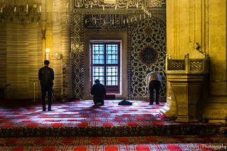 Prayers in a mosque