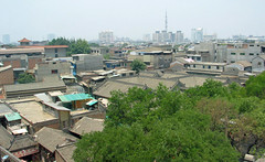 rooftops in the city of xian, china (Russell Scott Images) Tags: streetscenes xian china russellscottimages