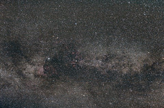 Milkyway in Swan. (bas_grootenhuis) Tags: astrophotagraphy vixen polarie tracker canon 60d univevse galaxy milkeyway dslr image ngc ngc7000 deepsky cluster netherlands
