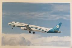 Embraer ERJ-195 Air Dolomiti (Sabrina9207) Tags: postcard airplane plane air dolormiti embraer erj195 flight travel