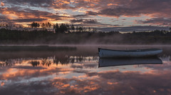 Fishing boat reflection (adamcaird) Tags: scotland sunrise spring water canon canon6d colourful reflection flickr outdoors landscape morning orange blue cokin filter ngc