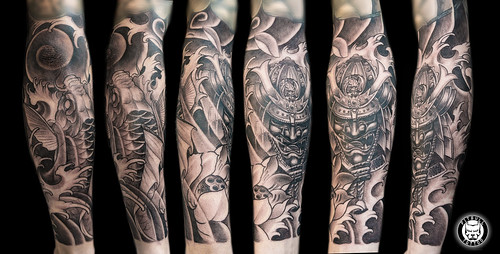 Japanese Black & Grey - Arm Tattoo