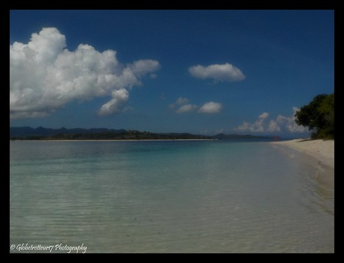 Plage de sable blanc sur Gili Ringgit inhabitée- Gili Gede- Sud-Ouest de Lombok- Indonésie- Indonesia