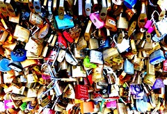 Forever? (johanqf) Tags: paris france padlocks colours city urban francia french parisian street candados love key amor europe