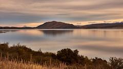 Lake Tekapo, New Zealand (flowerikka) Tags: newzealand lake laketekapo sunset grass reflection sky clouds landscape nature see wasser water himmel landschaft