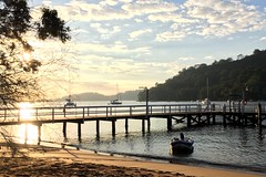 A good morning. The jetty. The Basin. Pittwater.