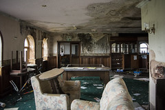 Lounge (Alexander Jones - Documentary Photography) Tags: documentary photography urban exploration abandoned north wales east denbigh denbighshire bryn morfydd hotel gold country club course urbex new topographic inspired nikon d5200 clwyd
