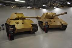 King Tiger pre-production and Jagdtiger (Richard.Crockett 64) Tags: sdkfz182 panzerkampfwagen königstiger pzkpfwtigerausfb kingtiger royaltiger sdkfz186 jagdtiger jagdpanzervi pzjägtiger tank tankdestroyer armouredfightingvehicle militaryvehicle germanarmy wehrmacht ww2 worldwartwo bovingtontankmuseum bovington dorset 2107