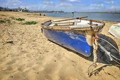 Herne Bay beach (Aliy) Tags: hernebay coast sea beach boat rowingboat oldboat sand kent